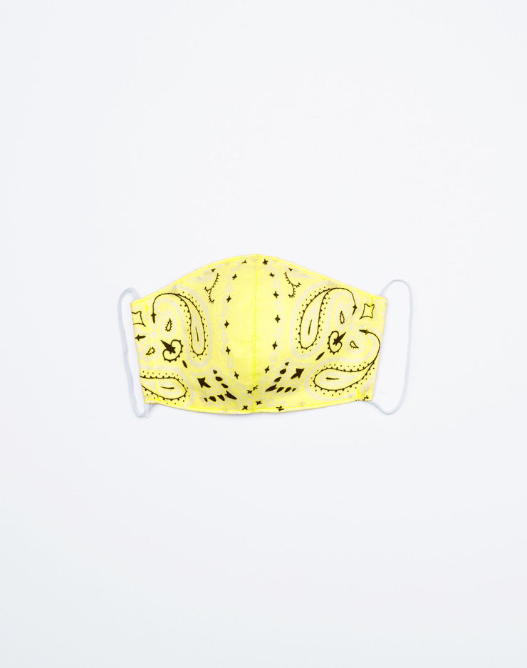 Upcycled Bandana Mask - Yellow