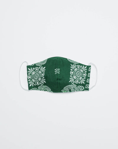 Upcycled Bandana Mask - Green