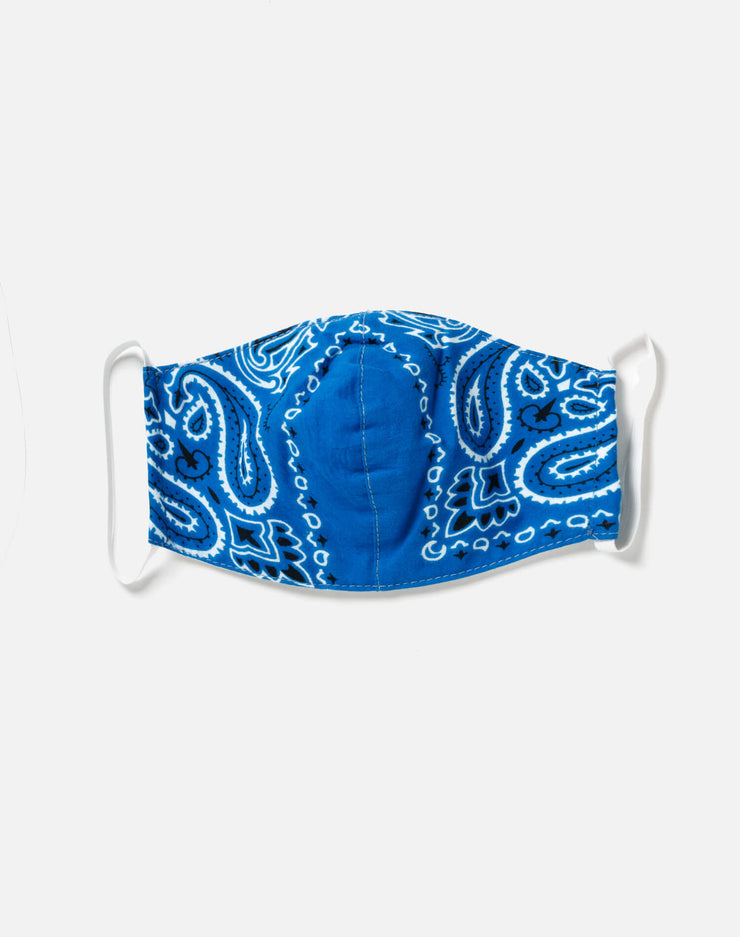 Upcycled Bandana Mask - Blue