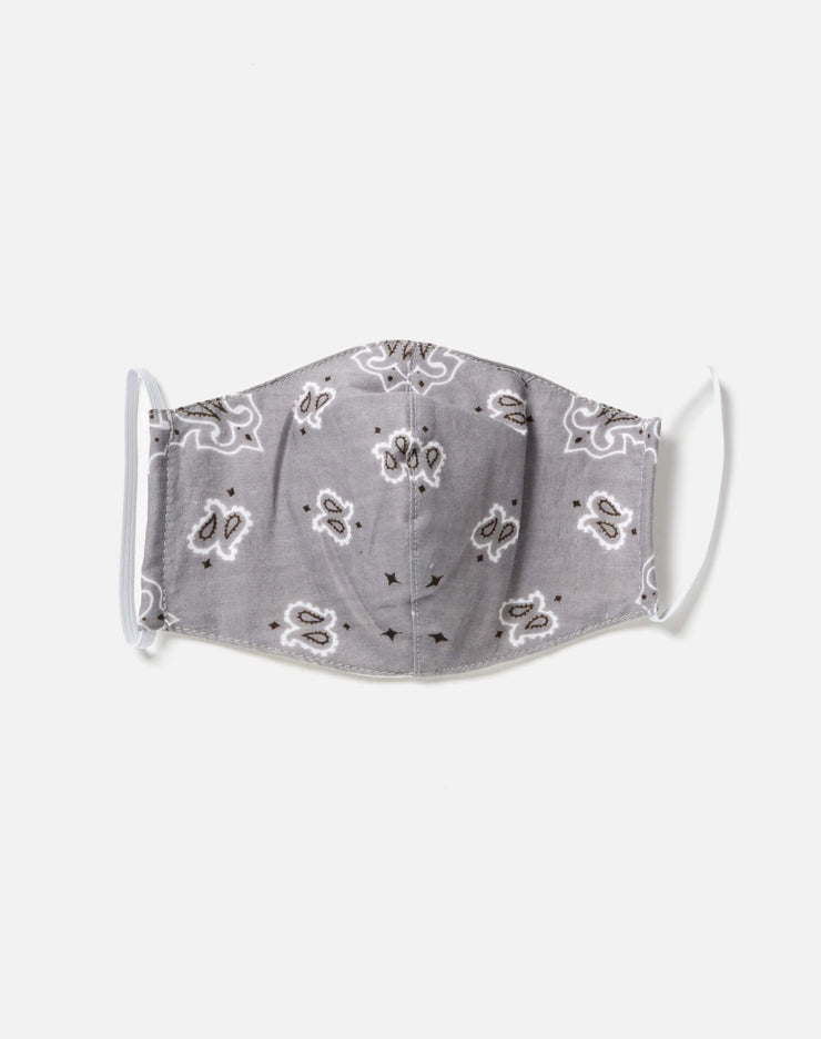 Upcycled Bandana Mask - Grey