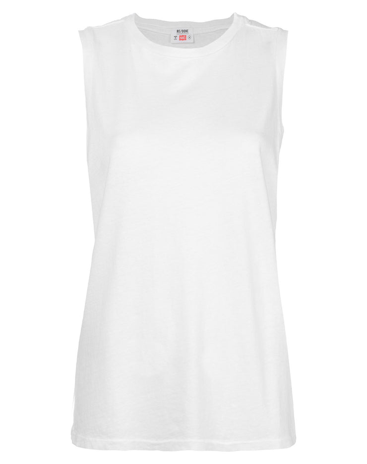 Heritage Cotton Muscle Tee - Optic White