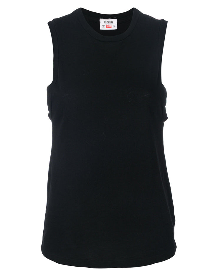 Heritage Cotton Muscle Tee - Black