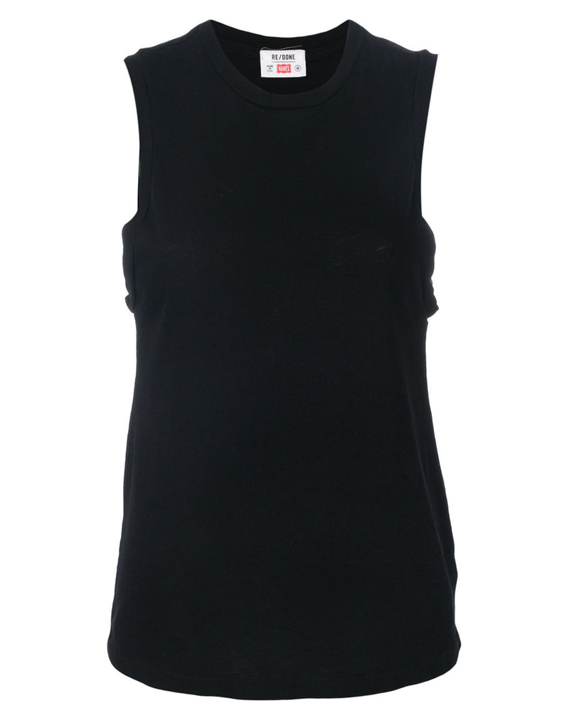 43452fea48776 Heritage Cotton Muscle Tee in Black