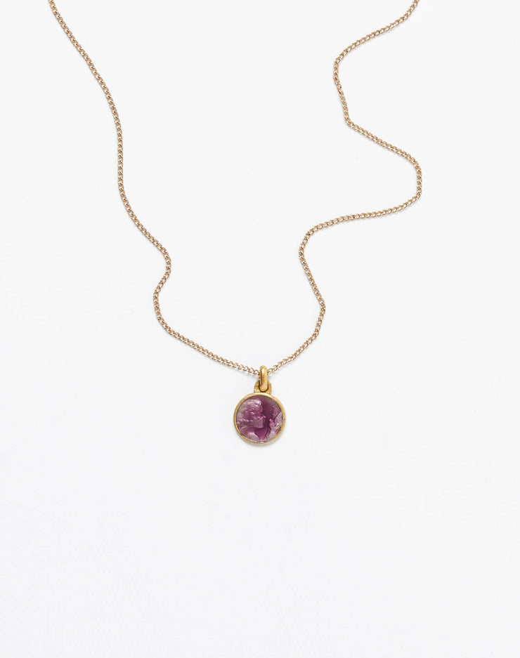 20s Enameled Purple Raphael Necklace #15