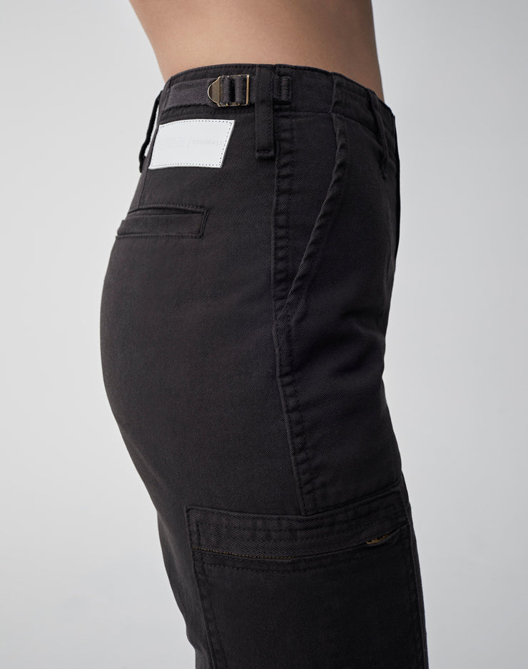 High Waisted Cargo | Washed Black | 324-3WHWC | 3