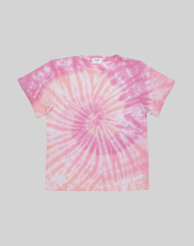 The Classic Tee - Pink Spiral Tie Dye