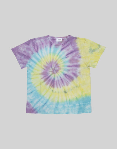 The Classic Tee - Purple Blue Yellow Tie Dye