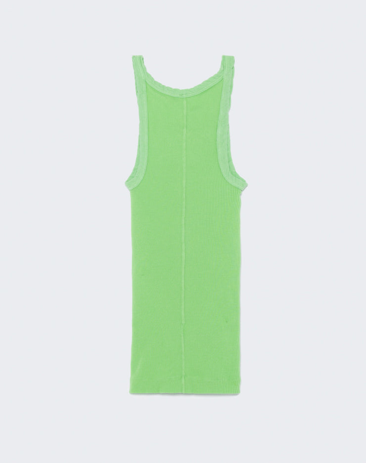 Ribbed Tank - Lime Green