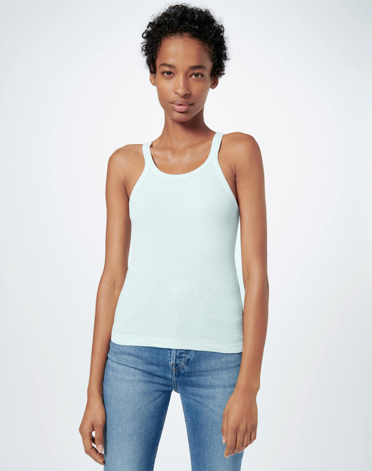 Ribbed Tank - Pale Blue