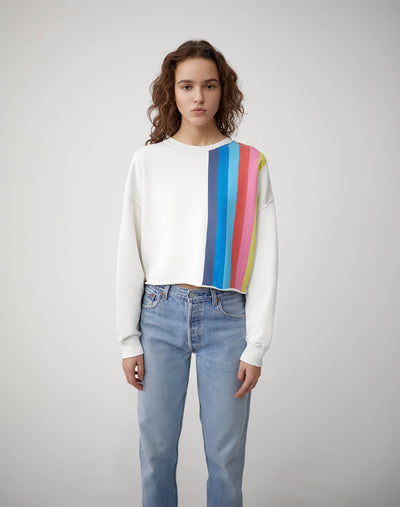Raw Crewneck Sweatshirt - Off White