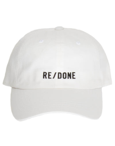 "Dad Cap ""RE/DONE"" Logo - Optic White"