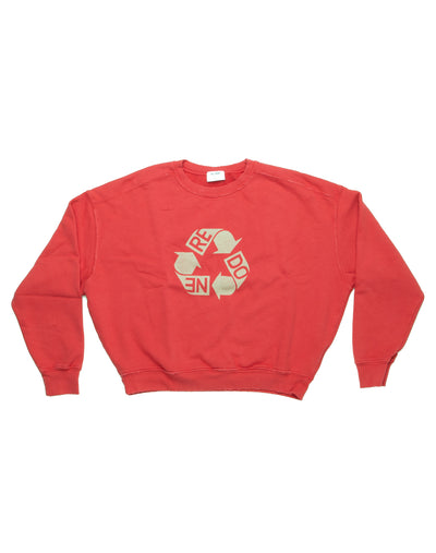 Recycle Crew Neck Logo | Raspberry | 010-5WCN1 | 1