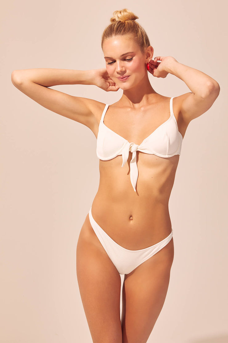 Nantucket Underwire Rib Bottom - White