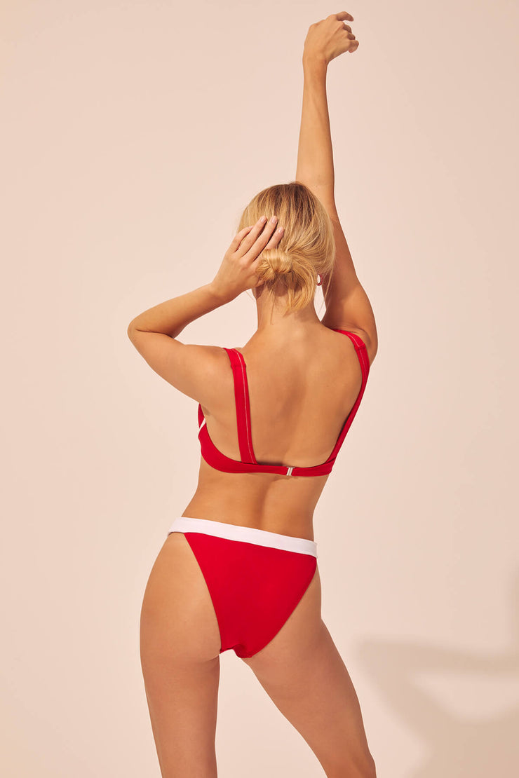 Montauk Underwire Bikini Bottom - Red