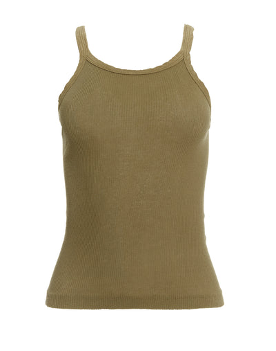 Ribbed Tank - Olive