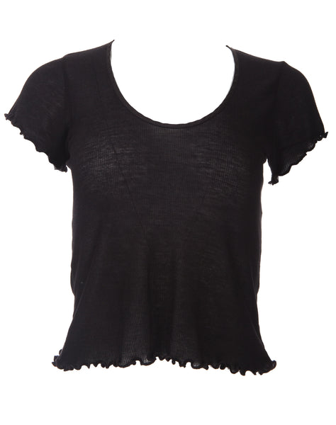 Ribbed Baby Tee - Black