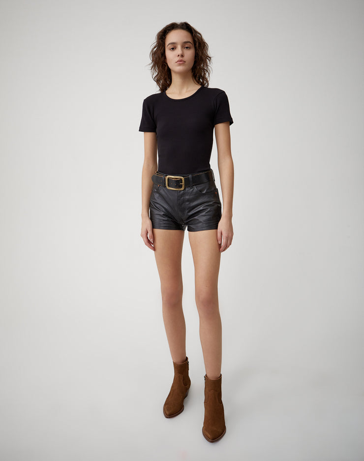 Leather Short | Black | 750-9WLES | 2