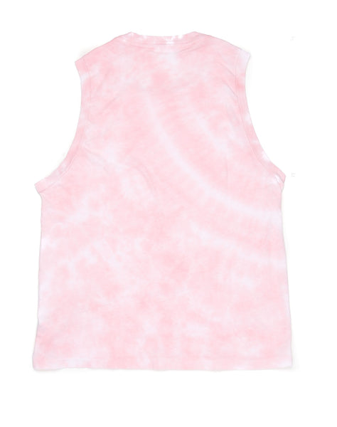 The Muscle Tee - Pink Tie Dye