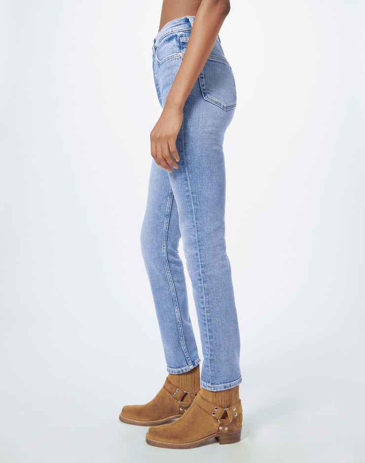 Comfort Stretch High Rise Ankle Crop - Hazey Indigo
