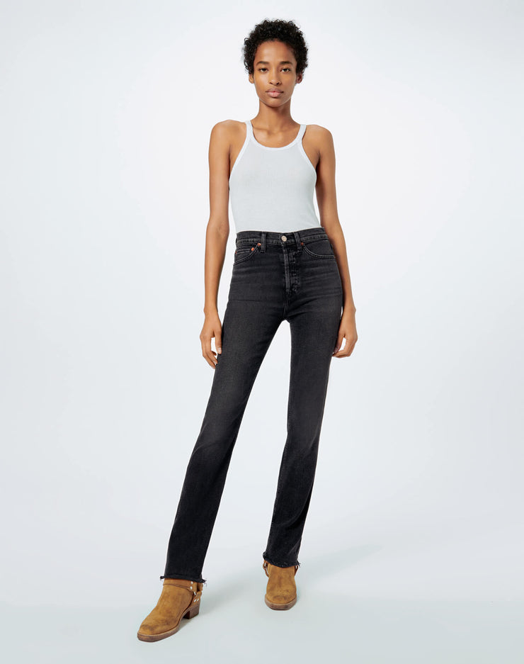 Comfort Stretch Slim Straight - Black 1