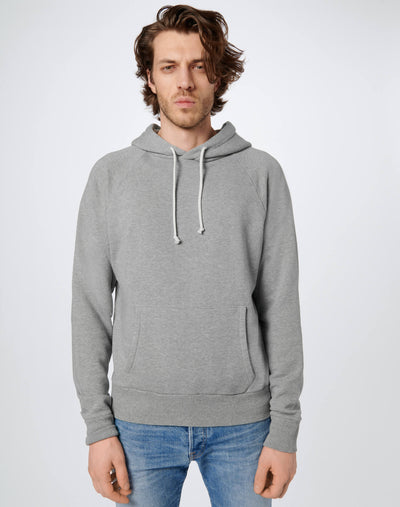 60s Raglan Hoodie - Heather Grey