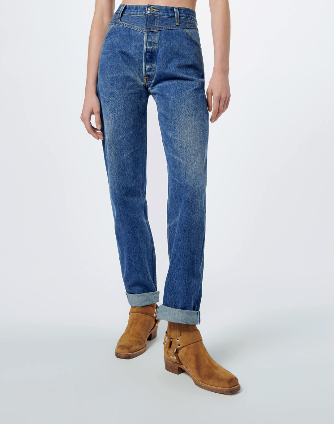Double Yoke Jean by Re Done, available on shopredone.com for $290 Kaia Gerber Pants SIMILAR PRODUCT