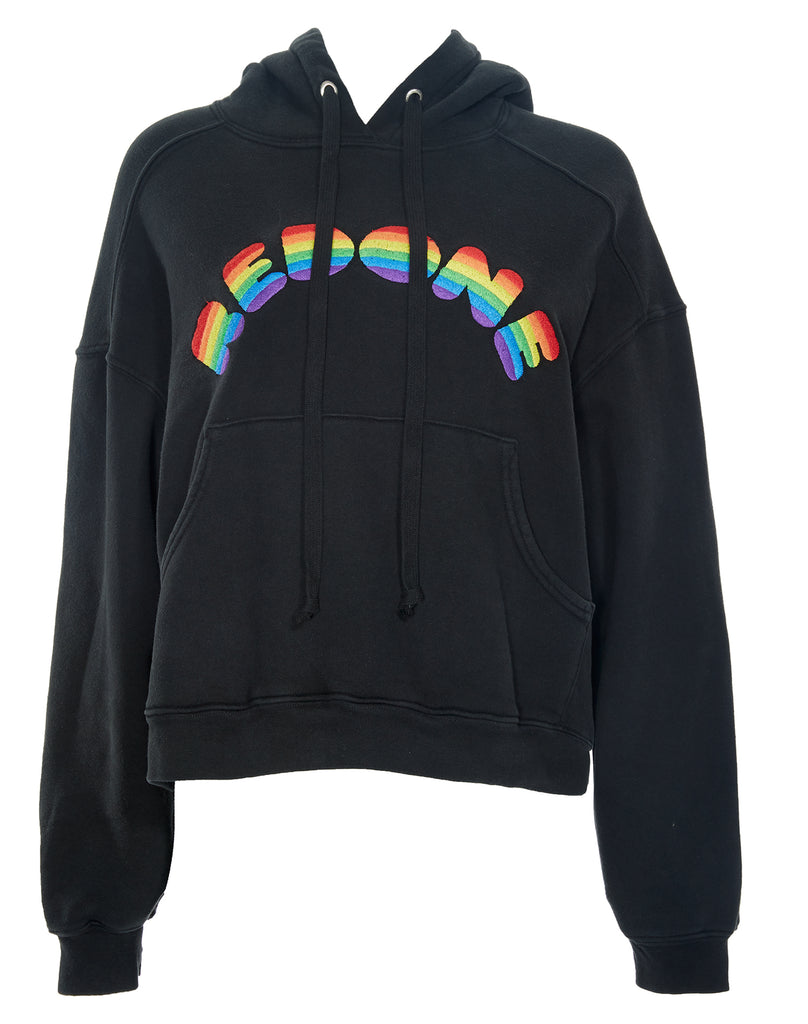 Cheap Sale 100% Original Rainbow Hooded Sweatshirt - Black Re/Done Sale Outlet Free Shipping Factory Outlet Under Sale Online zjitgw
