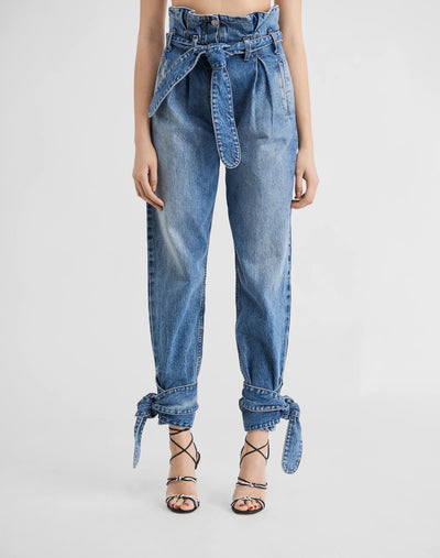 Pleated 80s High Rise Pant - Medium 42