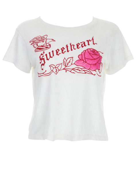 Sweetheart Graphic Tee - Vintage White