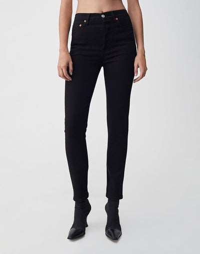Ultra Stretch High Rise Ankle Crop | Black 99 | 196-3WHRAC | 1