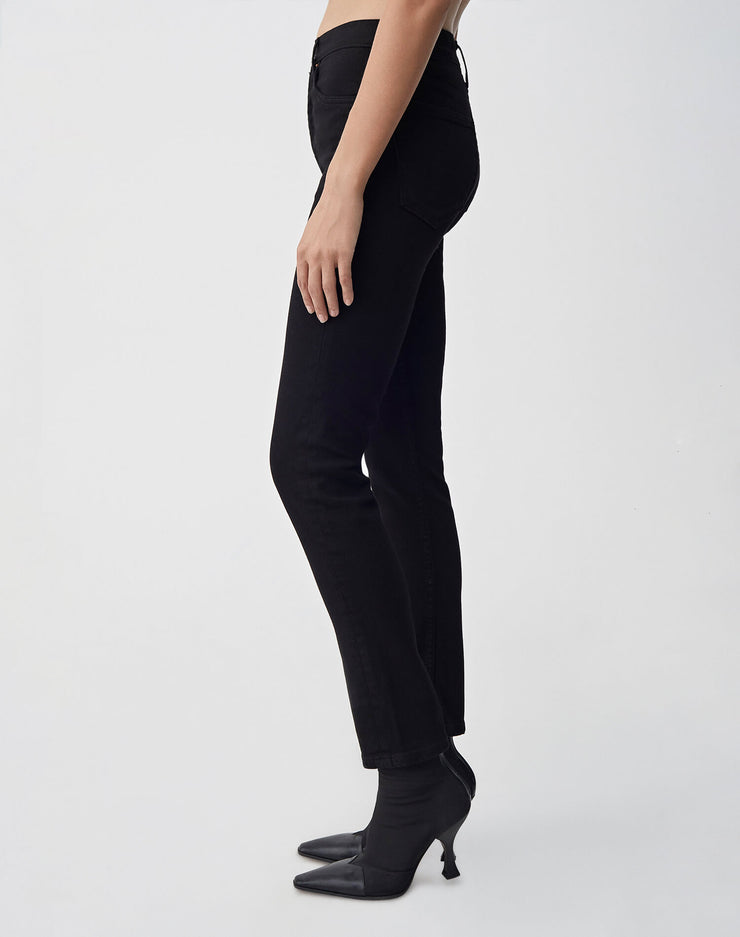 Ultra Stretch High Rise Ankle Crop | Black 99 | 196-3WHRAC | 3