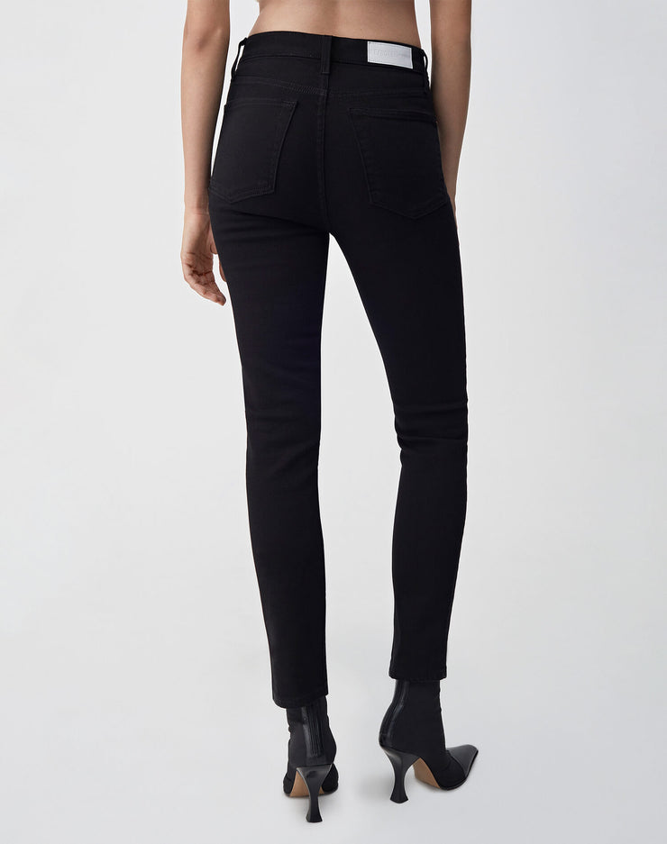 Ultra Stretch High Rise Ankle Crop | Black 99 | 196-3WHRAC | 4