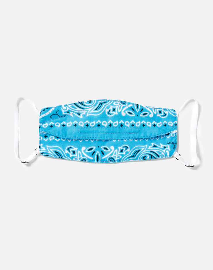 Upcycled Bandana Mask Pouch Set - Blue