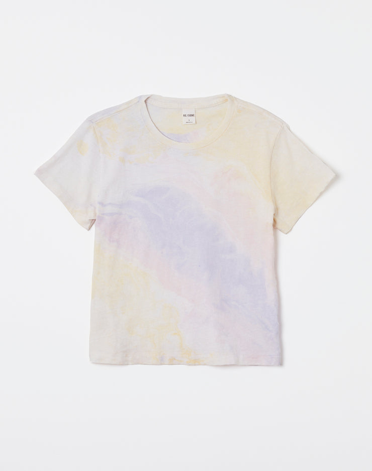 Classic Tee - Lilac Yellow Pink Marble