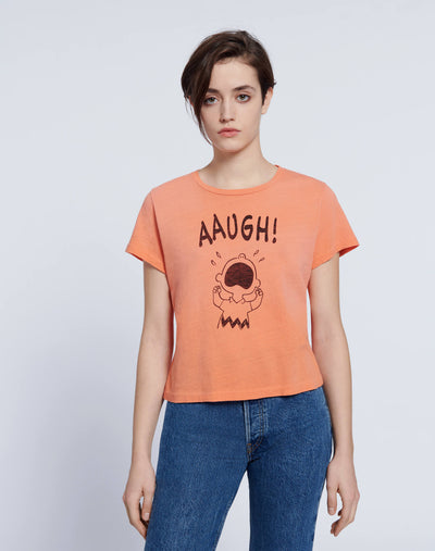 "Classic ""AAUGH"" Tee - Faded Apricot"