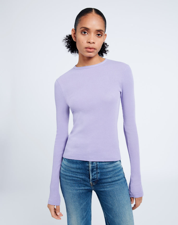 60s Slim Long Sleeve Tee - Orchid