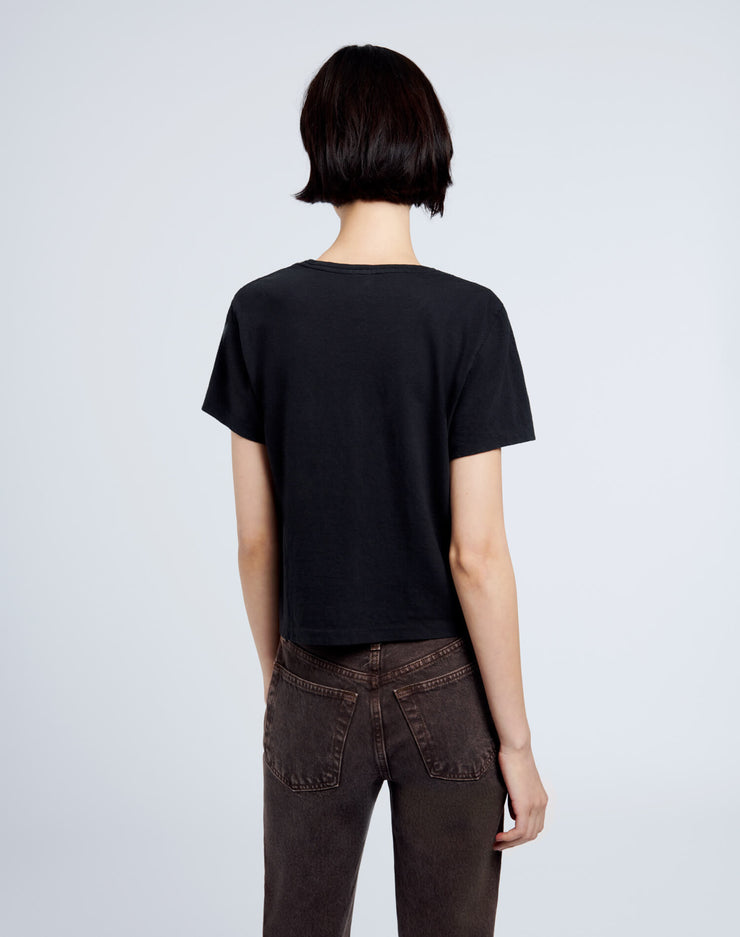 Heritage Cotton 1950s Boxy Tee - Washed Black