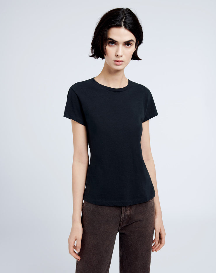 Heritage Cotton 1960s Slim Tee - Washed Black