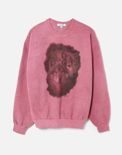 Upcycled Animal Sweatshirt - Heather Pink