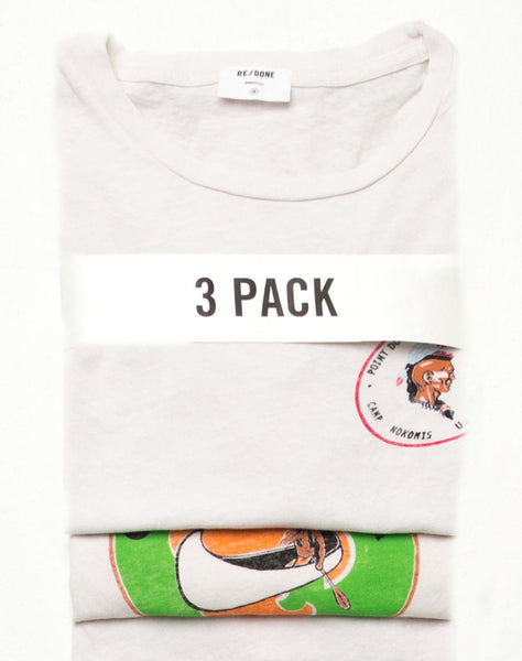 Classic 3 Pack – Vintage White Solid, Topanga, & Point Dume