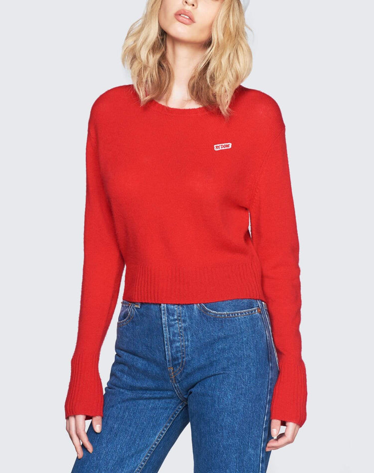 50s Cashmere Crewneck | Red | 450-7WCN | 5