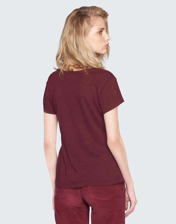The 1960s Slim Tee | Burgundy | 024-2WSL6 | 3