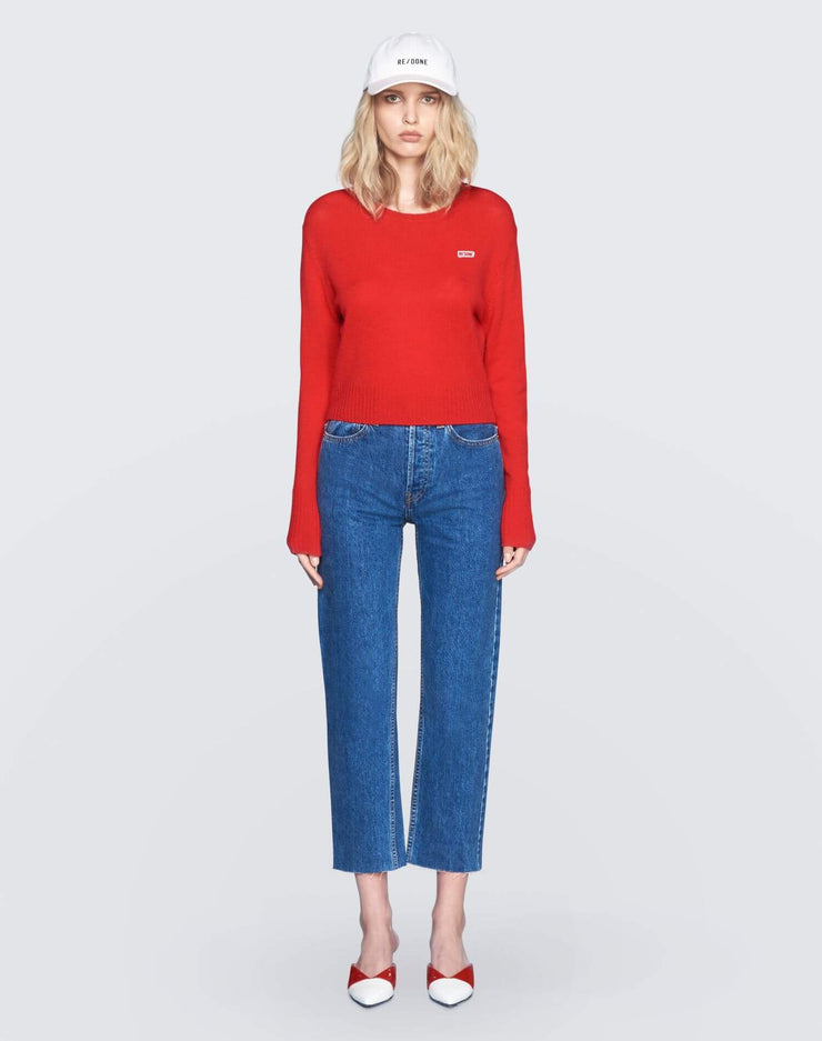 50s Cashmere Crewneck | Red | 450-7WCN | 2