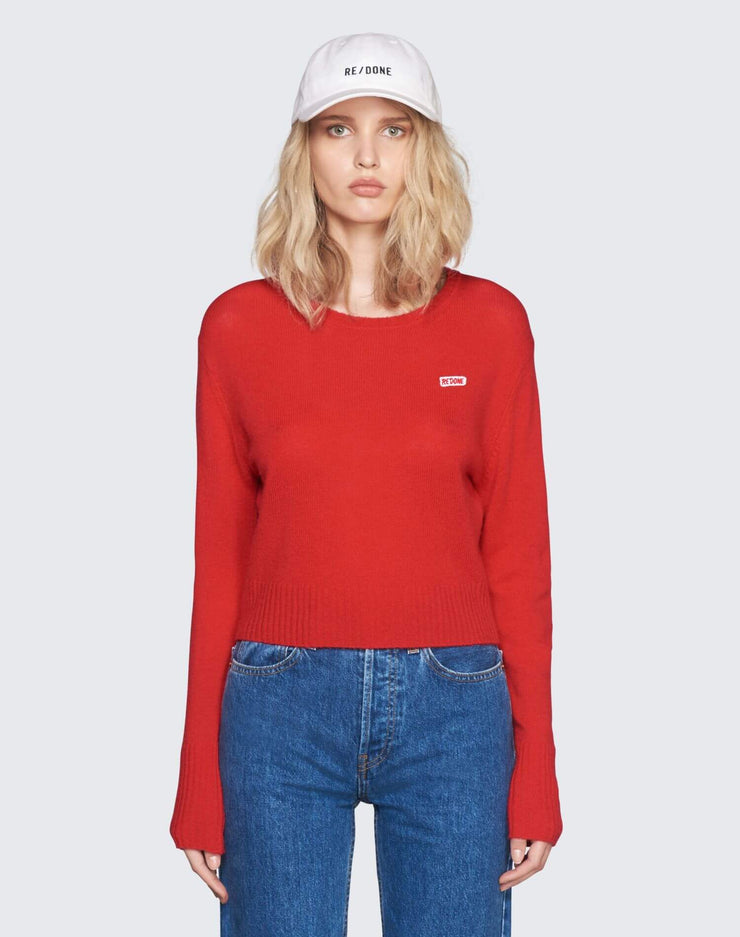 50s Cashmere Crewneck | Red | 450-7WCN | 1