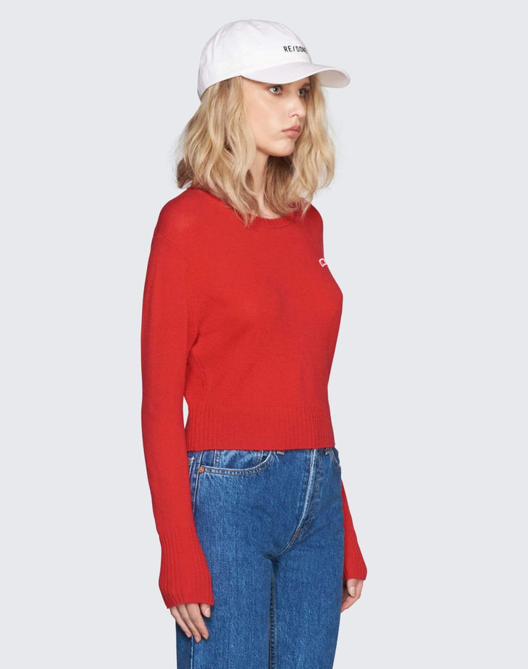 50s Cashmere Crewneck | Red | 450-7WCN | 3