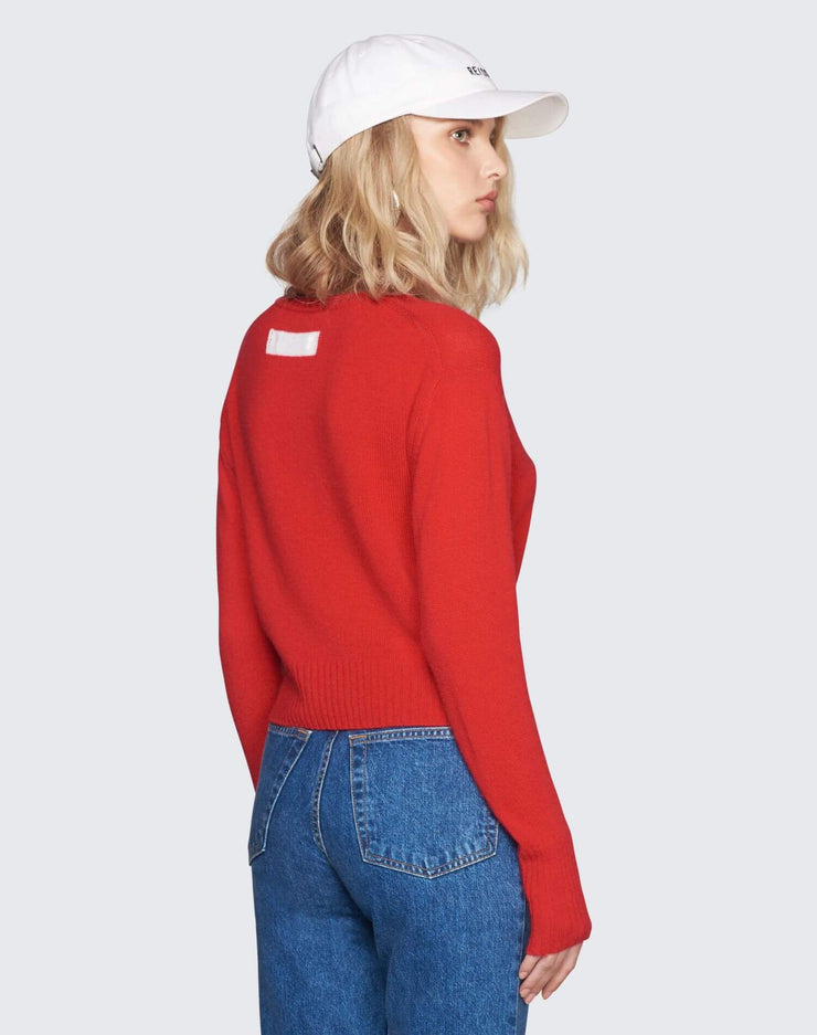 50s Cashmere Crewneck | Red | 450-7WCN | 4