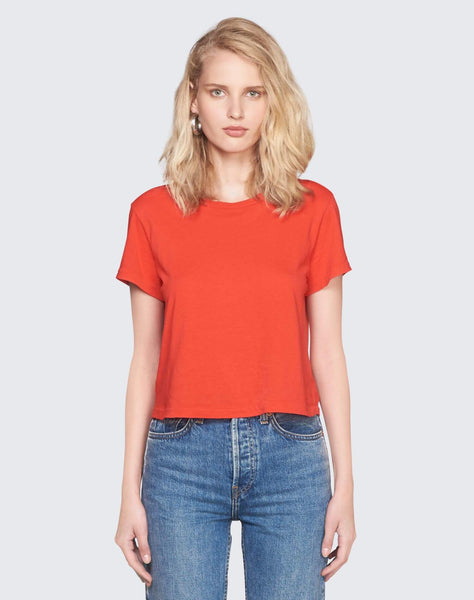 Modern Cotton 1950's Boxy Tee - Red