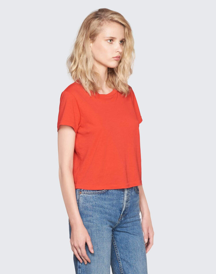 Vintage Cotton 1950's Boxy Tee | Red | 030-2WBX5 | 3