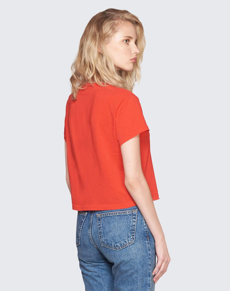 Vintage Cotton 1950's Boxy Tee | Red | 030-2WBX5 | 4