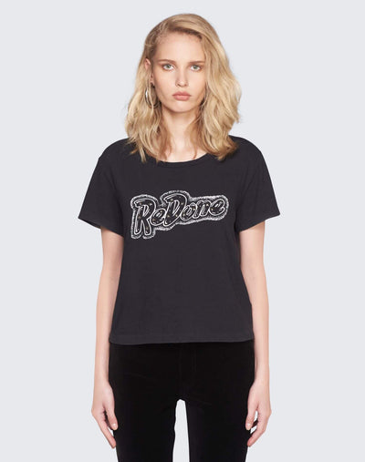 RE/DONE Doll Graphic Tee | Worn Black | 024-2WCGT49 | 1